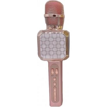 Ασύρματο μικρόφωνο Επαγγελματικό με Ενσωματωμένο Ηχείο pink gold – YS-05 – OEM