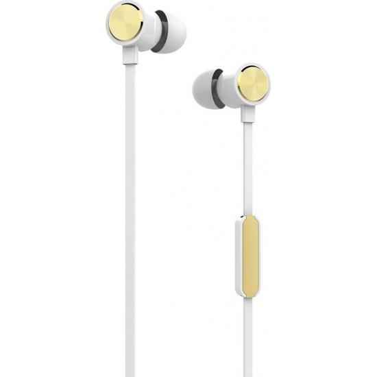 Ακουστικά με Μικρόφωνο Yookie YK810 (Κίτρινο)