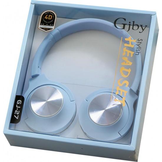 EXTRA BASS Στερεοφωνικά Ακουστικά gjby GJ-27 (Μπλε)