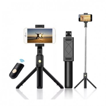 Selfie Stick Tripod OEM K07 Remote Control Bluetooth (Μαύρο)