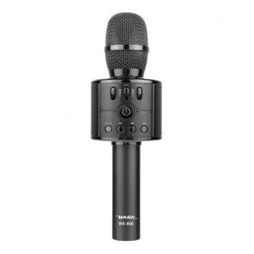 Ασύρματο Bluetooth ηχείο - καραόκε μικρόφωνο μαύρο wk-868