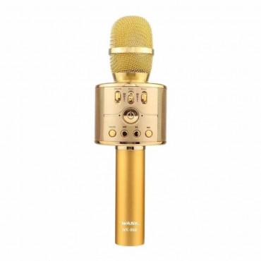 Ασύρματο Bluetooth ηχείο - καραόκε μικρόφωνο με  χρυσό wk-868