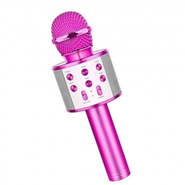Ασύρματο bluetooth μικρόφωνο με ενσωματωμένο ηχείο και karaoke φουξ WSTER WS-858