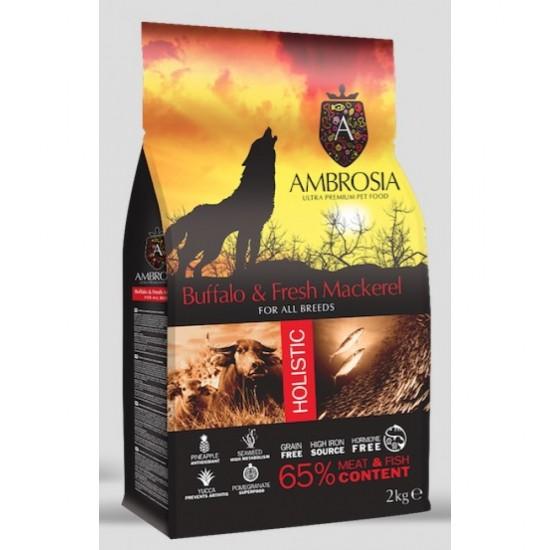 Ambrosia Grain Free Adult - Βουβάλι-Φρέσκο Σκουμπρί (2kg)