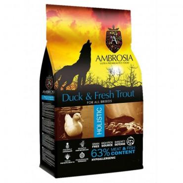 Ambrosia Grain Free Adult - Πάπια-Φρέσκια Πέστροφα (2kg)