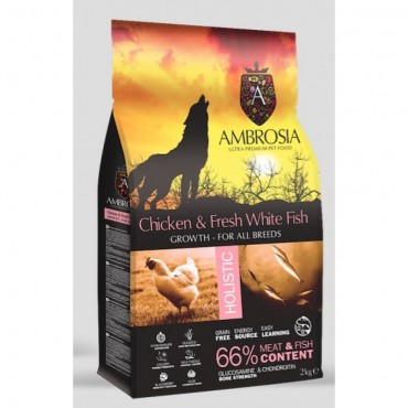 Ambrosia Grain Free Puppy - Φρέσκα Ψάρια & Κοτόπουλο (2kg)