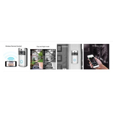 Wifi Κουδούνι Πόρτας 1080p Full HD Κάμερα - Video Δικτυακό Doorbell v5