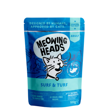 Meowing heads wet Surf & Turf 100gr