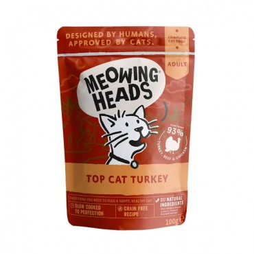 Meowing heads wet γαλοπούλα 100gr