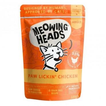 Meowing heads wet paw lickin κοτόπουλο 100gr