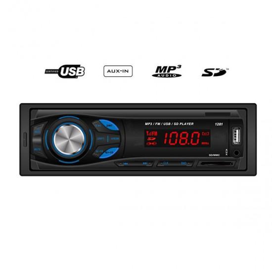 MP3 player αυτοκινήτου με είσοδο USB/SD/AUX, ραδιόφωνο και χειριστήριο - GT 1281