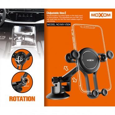 Βάση Αυτοκινήτου moxom vs04 Για Κινητό Τηλέφωνο με βεντούζα - Μαύρο