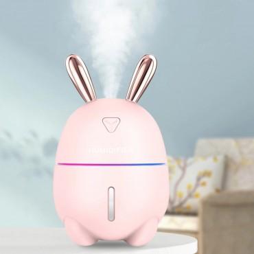 Υγραντήρας + Συσκευή Αρωματοθεραπείας - rabbit night light pink- OEM