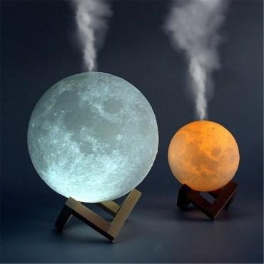 Υγραντήρας + Συσκευή Αρωματοθεραπείας - moon lamp- OEM mx-08