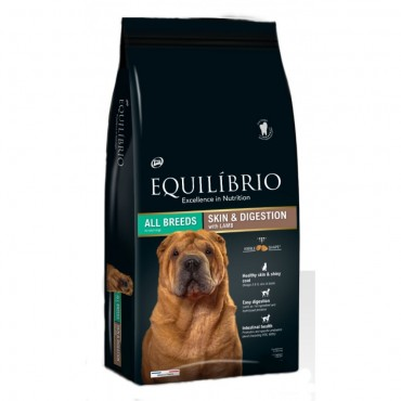 Equilibrio dog skin&digestion lamb 2kg