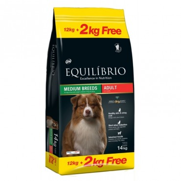 Equilibrio Adult medium Breeds 12kg+2kg δώρο