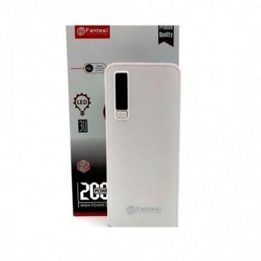 Power Bank Fantesi F6 20000mAh - Με 3 Θύρες USB (Λευκό)