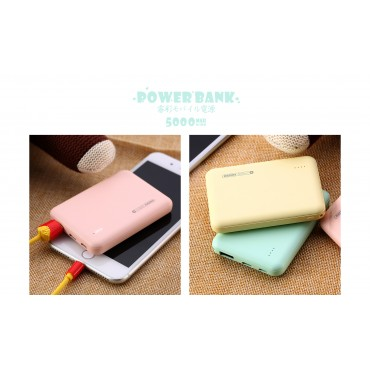 Remax RPP-116 Power Bank 5000mAh Mini (Ροζ)