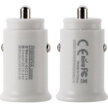 Remax Roki Series Car Charger RCC219 2x USB 2.4A (Λευκό)