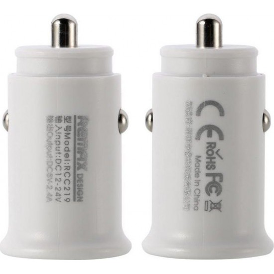Remax Roki Series Car Charger RCC219 2x USB 2.4A (Λευκό)