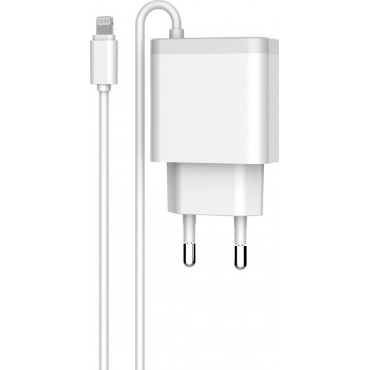 Φορτιστής Ταξιδιού LDNIO A321 With Cable For IPhone 5/6/7SE,