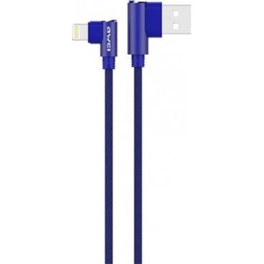 Καλώδιο Φόρτισης-Δεδομένων USB Awei CL-32 1200mm για iPhone (Μπλε)