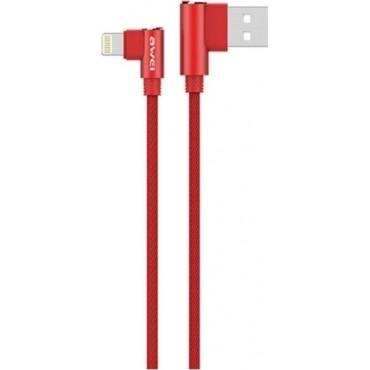 Καλώδιο Φόρτισης-Δεδομένων USB Awei CL-32 1200mm για iPhone (Κόκκινο)