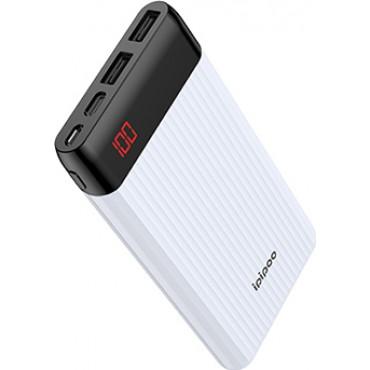 iPipoo Power Bank LP-15 10000mAh Με Δύο Θύρες USB (Λευκό)
