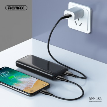 Remax RPP-153 Power Bank 10000mAh 2A (Μαύρο)