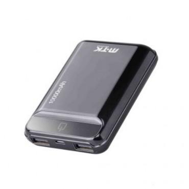 Power Bank MTK K3632 Mini 10000mAh - Με 2 θύρες USB (Μαύρο)