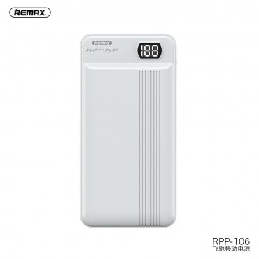 Remax RPP-106 Power Bank 20000mAh 2.1A - With Type C Input (Λευκό)