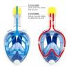 Full face ninja free breath μάσκα θαλάσσης μπλε