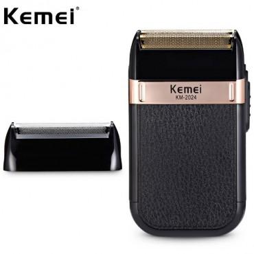 Φορητή αδιάβροχη ξυριστική επαναφορτιζόμενη μηχανή USB Kemei KM-2024