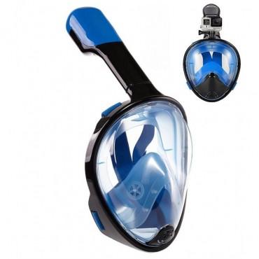 Full face ninja free breath μάσκα θαλάσσης μαύρο μπλε