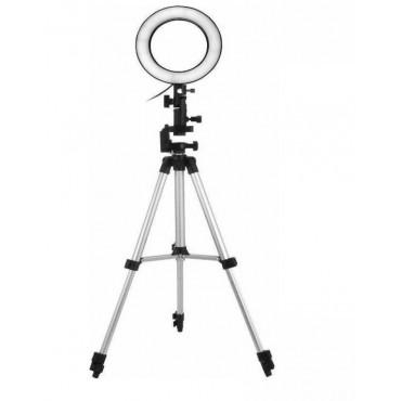 Επαγγελματικό Φωτογραφικό Φωτιστικό Δαχτυλίδι Ring Lamp Light LED USB 26cm με τρίποδο