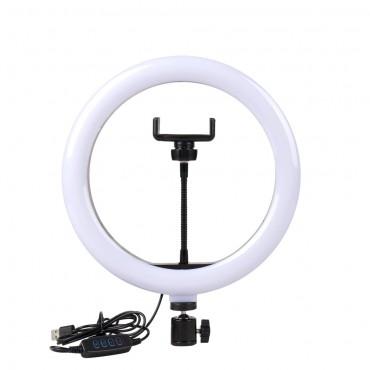 Επαγγελματικό Φωτογραφικό Φωτιστικό Δαχτυλίδι Ring Lamp Light LED USB 26cm με 3 Χρώματα Φωτισμού