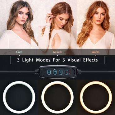 Επαγγελματικό Φωτογραφικό Φωτιστικό Δαχτυλίδι Ring Lamp Light LED USB 26cm με βάση