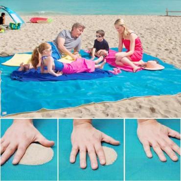 Έξυπνη ψάθα παράλιας δεν κρατάει άμμο